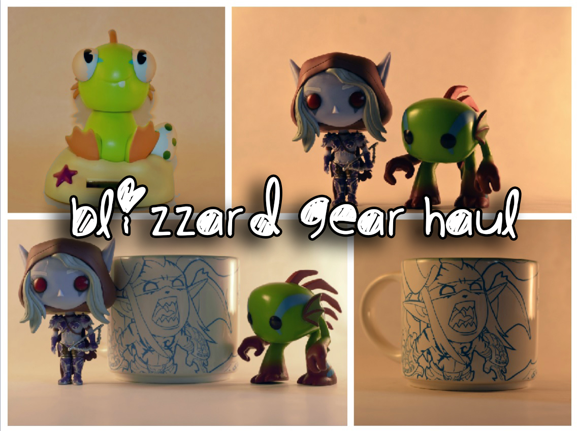 Blizzard gear haul girl gamer sylvannas murloc merchendise merch