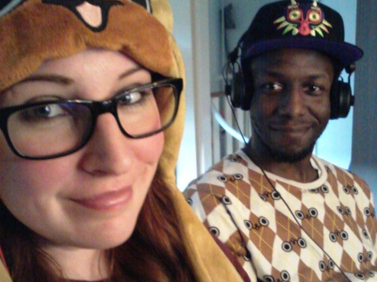 Heather & Sammy gaming geek couple girl female gamers