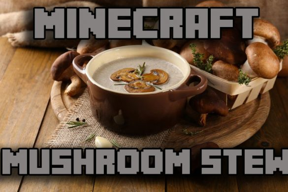 Minecraft mushroom stew girl gamer christmas recipe