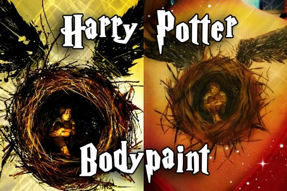 Harry potter body paint game paint girl gamer female