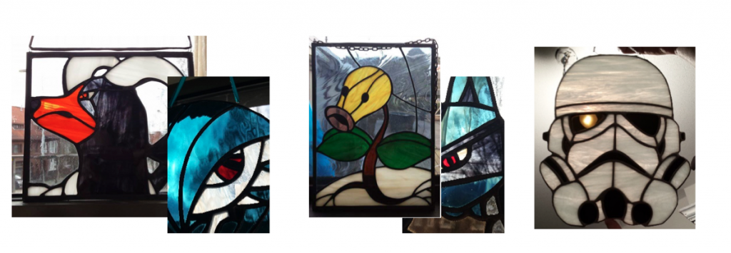 stained glass Pokémon dark souls girlgamer zelda star wars