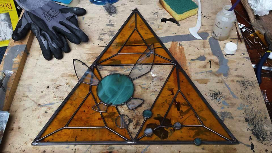 legend of zelda stained glass
