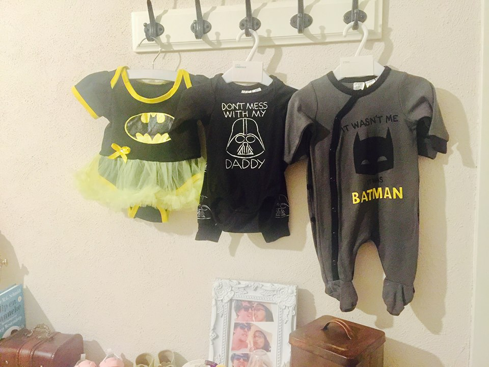 Darth Vader Star Wars onesie baby clothes Geek girl gamer galaxy nerd mother baby inspiration batman batgirl